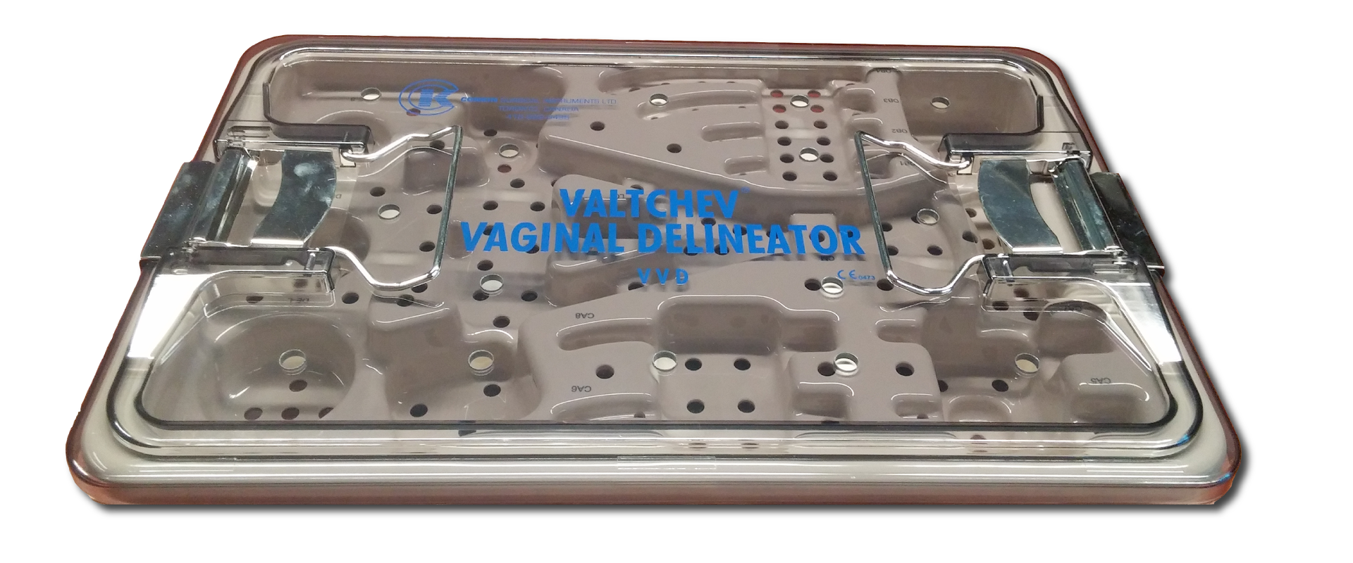 Valtchev Vaginal Delineator Gynecology Instrument Sterilization Tray